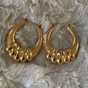 Jewelry - 14k Gold Jumbo Shrimp Earrings